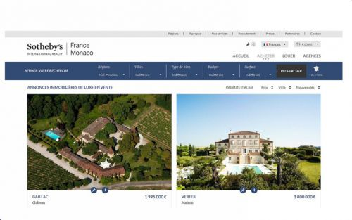Sotheby's France & Monaco purchase castle, property, Tarn, Haute-Garonne